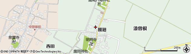 山形県酒田市漆曽根腰廻239周辺の地図