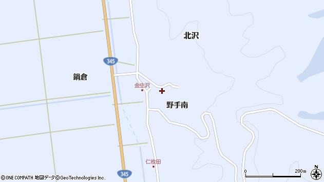 山形県酒田市北沢野手南61周辺の地図