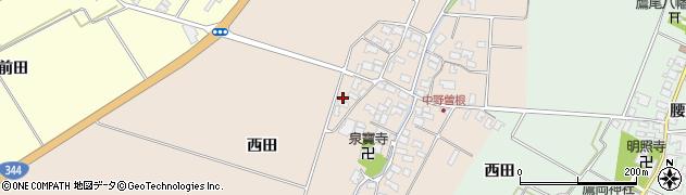 山形県酒田市中野曽根西田27周辺の地図