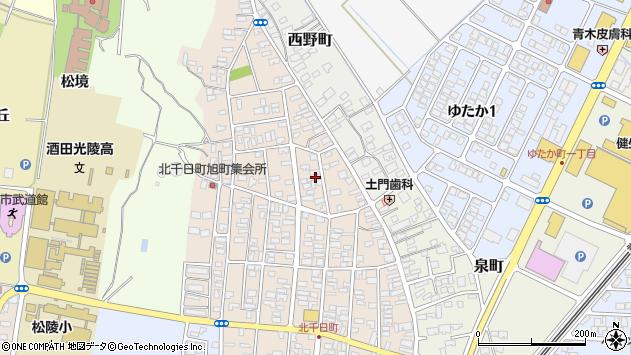 山形県酒田市北千日町8周辺の地図