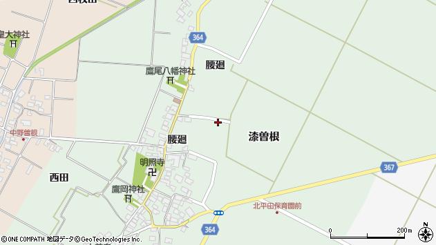 山形県酒田市漆曽根腰廻55周辺の地図