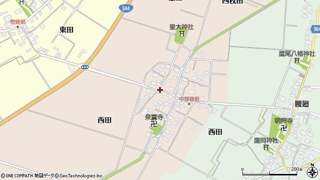 山形県酒田市中野曽根西田81周辺の地図