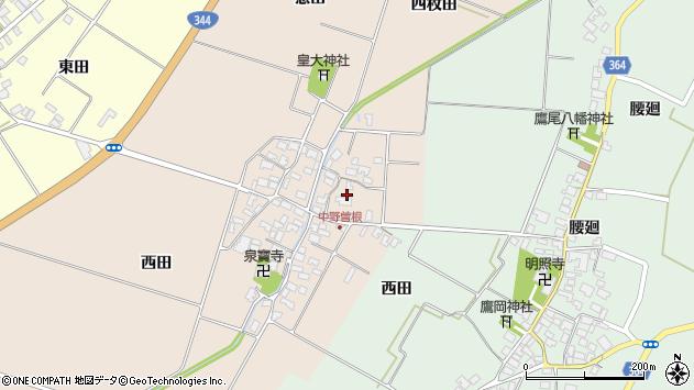 山形県酒田市中野曽根四枚田154周辺の地図