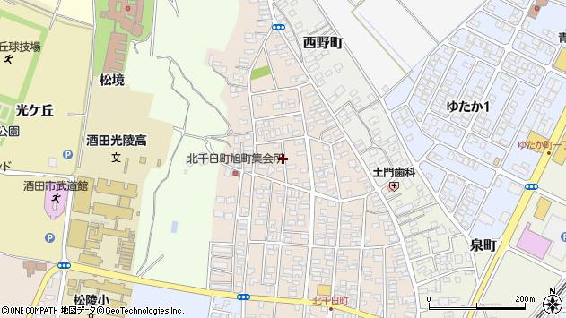 山形県酒田市北千日町21周辺の地図