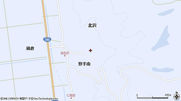 山形県酒田市北沢野手南82周辺の地図