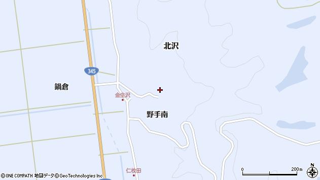 山形県酒田市北沢野手南83周辺の地図