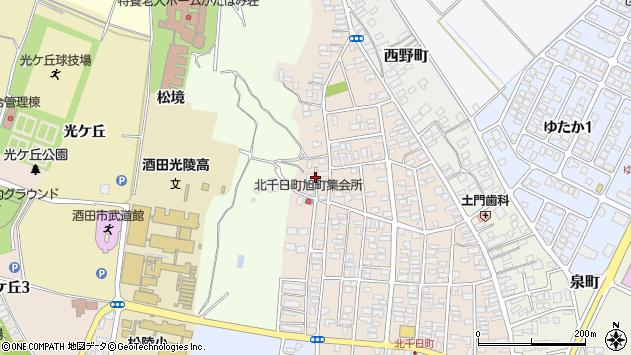 山形県酒田市北千日町20周辺の地図