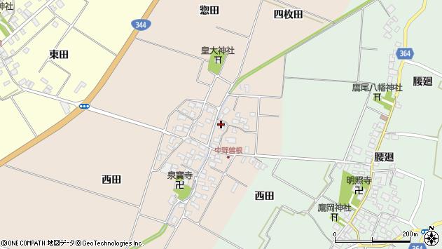 山形県酒田市中野曽根四枚田152周辺の地図