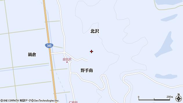 山形県酒田市北沢野手南86周辺の地図