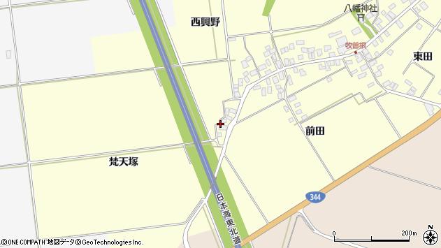 山形県酒田市牧曽根梵天塚3周辺の地図