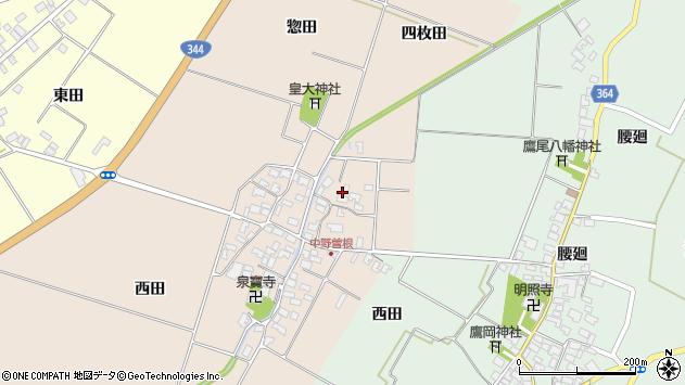 山形県酒田市中野曽根四枚田148周辺の地図