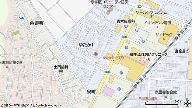 山形県酒田市ゆたか周辺の地図