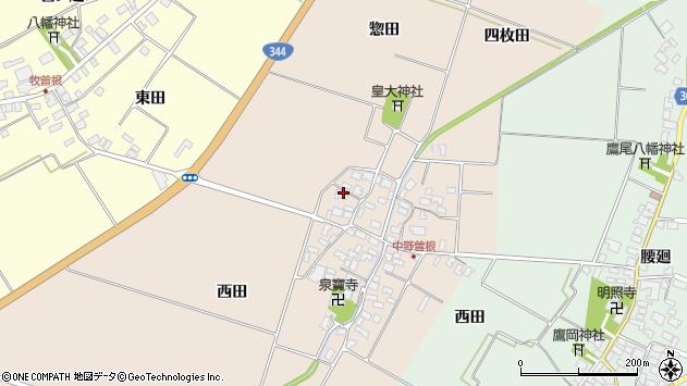 山形県酒田市中野曽根西田78周辺の地図