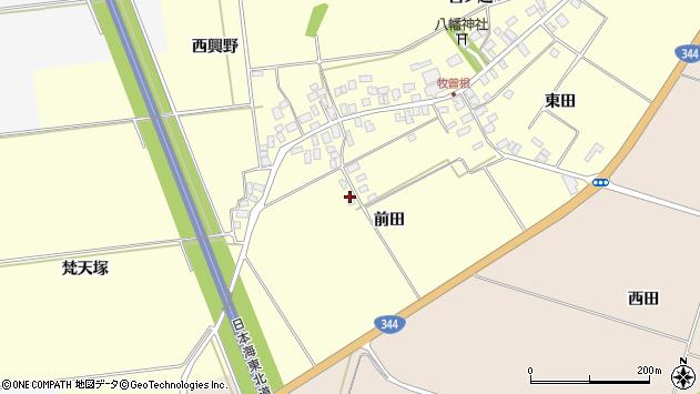 山形県酒田市牧曽根前田56周辺の地図