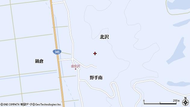 山形県酒田市北沢野手南88周辺の地図