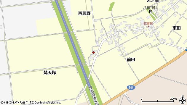 山形県酒田市牧曽根梵天塚2周辺の地図