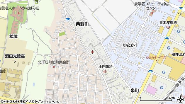 山形県酒田市西野町3周辺の地図