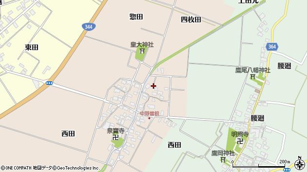 山形県酒田市中野曽根四枚田145周辺の地図