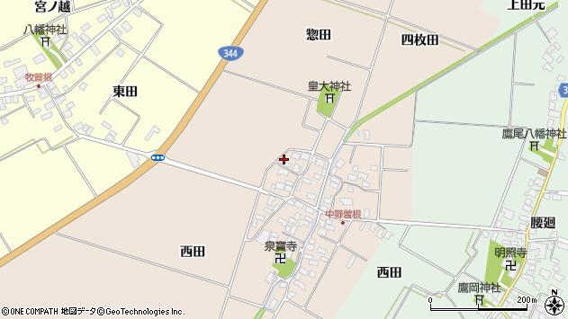 山形県酒田市中野曽根西田61周辺の地図