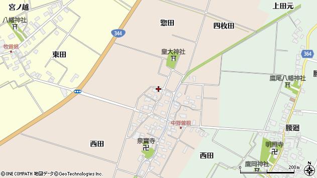 山形県酒田市中野曽根西田57周辺の地図
