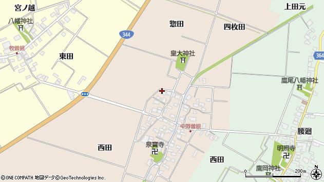 山形県酒田市中野曽根西田60周辺の地図