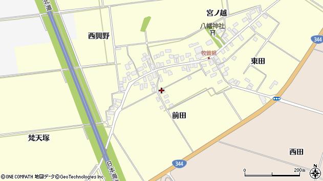 山形県酒田市牧曽根前田周辺の地図