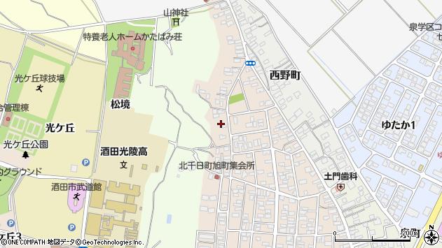 山形県酒田市北千日町24周辺の地図
