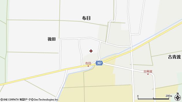 山形県酒田市布目後田4周辺の地図