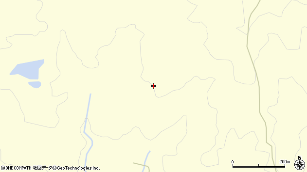 山形県酒田市北俣東沢周辺の地図