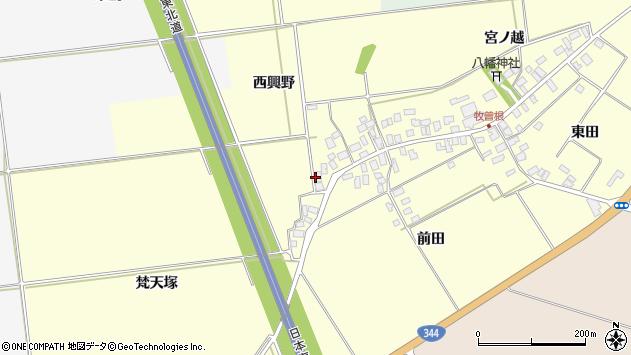 山形県酒田市牧曽根西興野2周辺の地図