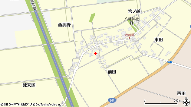 山形県酒田市牧曽根前田59周辺の地図
