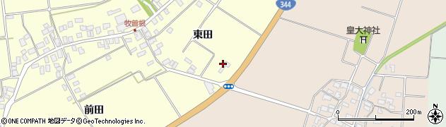 山形県酒田市牧曽根東田102周辺の地図