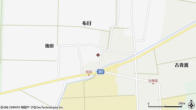 山形県酒田市布目後田2周辺の地図