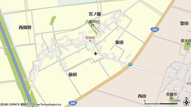 山形県酒田市牧曽根東田61周辺の地図
