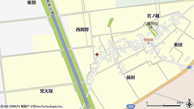 山形県酒田市牧曽根西興野3周辺の地図