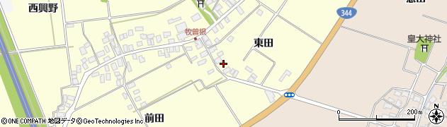 山形県酒田市牧曽根東田27周辺の地図