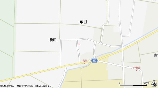 山形県酒田市布目後田8周辺の地図