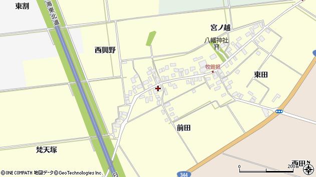 山形県酒田市牧曽根前田61周辺の地図