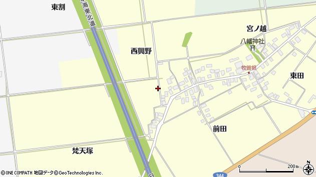 山形県酒田市牧曽根周辺の地図