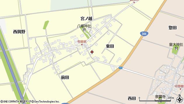 山形県酒田市牧曽根東田26周辺の地図