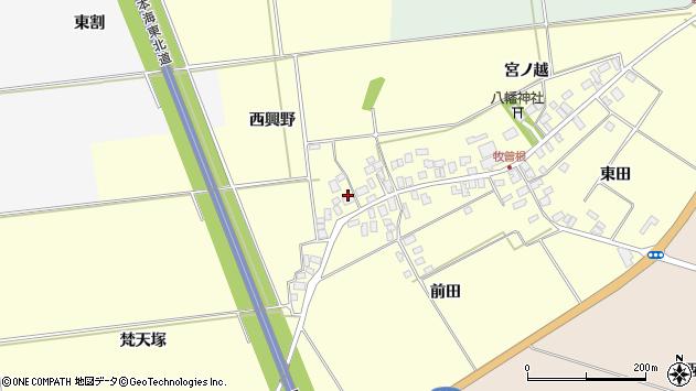 山形県酒田市牧曽根西興野周辺の地図