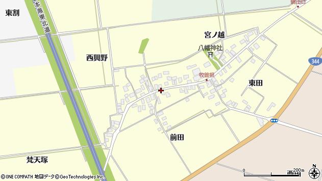 山形県酒田市牧曽根前田13周辺の地図