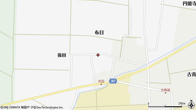 山形県酒田市布目周辺の地図