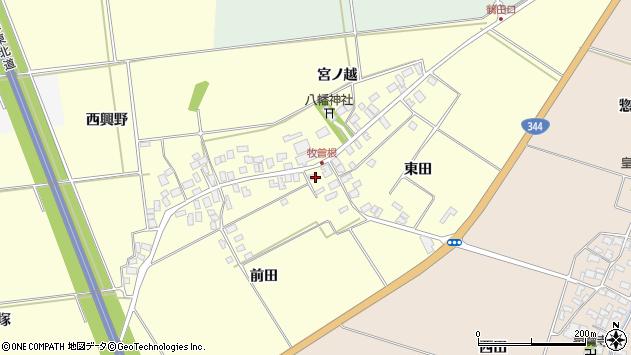 山形県酒田市牧曽根東田周辺の地図
