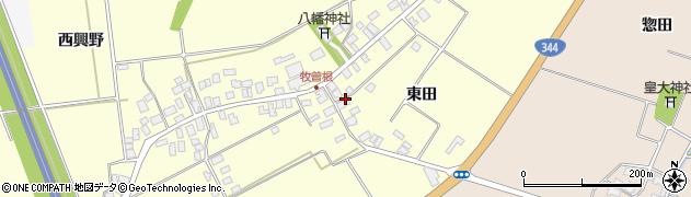 山形県酒田市牧曽根東田25周辺の地図
