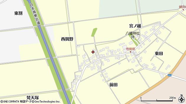 山形県酒田市牧曽根西興野5周辺の地図