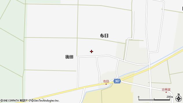 山形県酒田市布目後田109周辺の地図