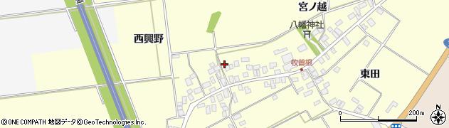 山形県酒田市牧曽根宮ノ越69周辺の地図
