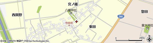 山形県酒田市牧曽根東田18周辺の地図
