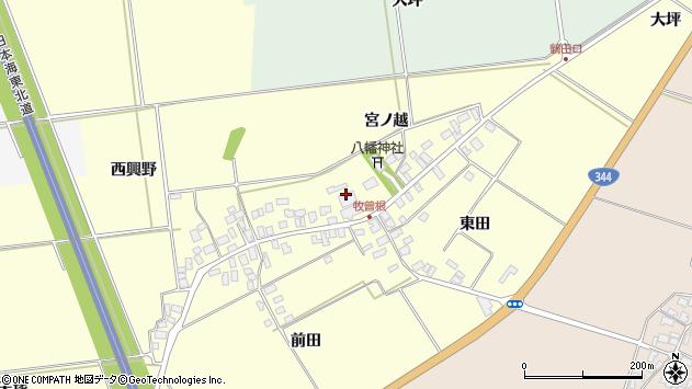 山形県酒田市牧曽根宮ノ越92周辺の地図
